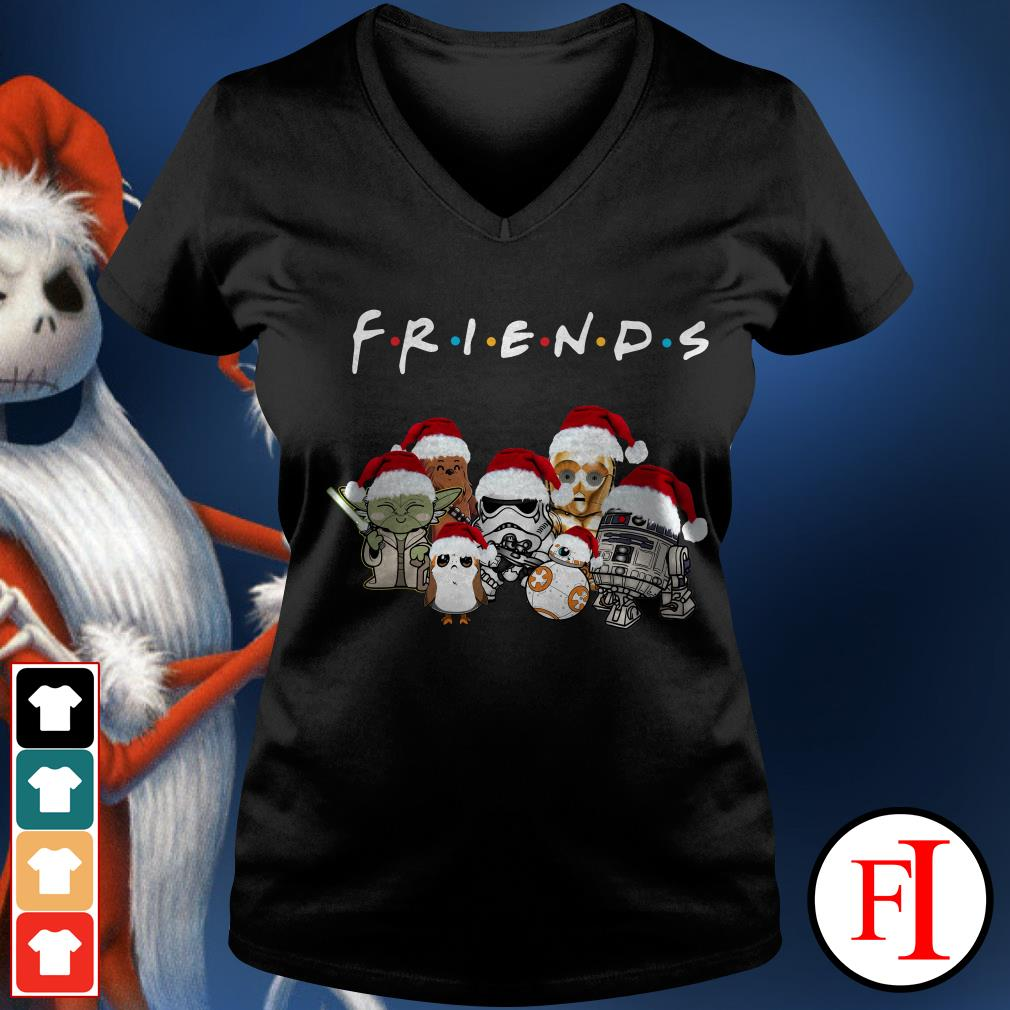 Star Wars chibi characters Christmas Friends V-neck t-shirt
