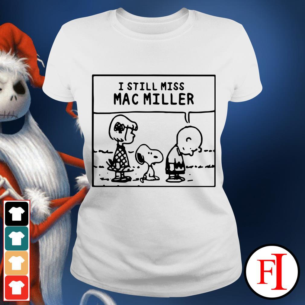 I Still Miss Mac Miller Peanuts Snoopy Ladies tee