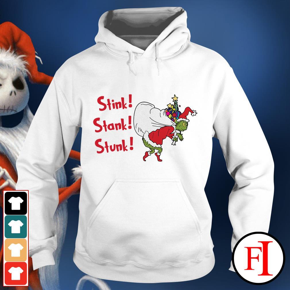 Stink stank stunk the Grinch Santa Christmas Hoodie