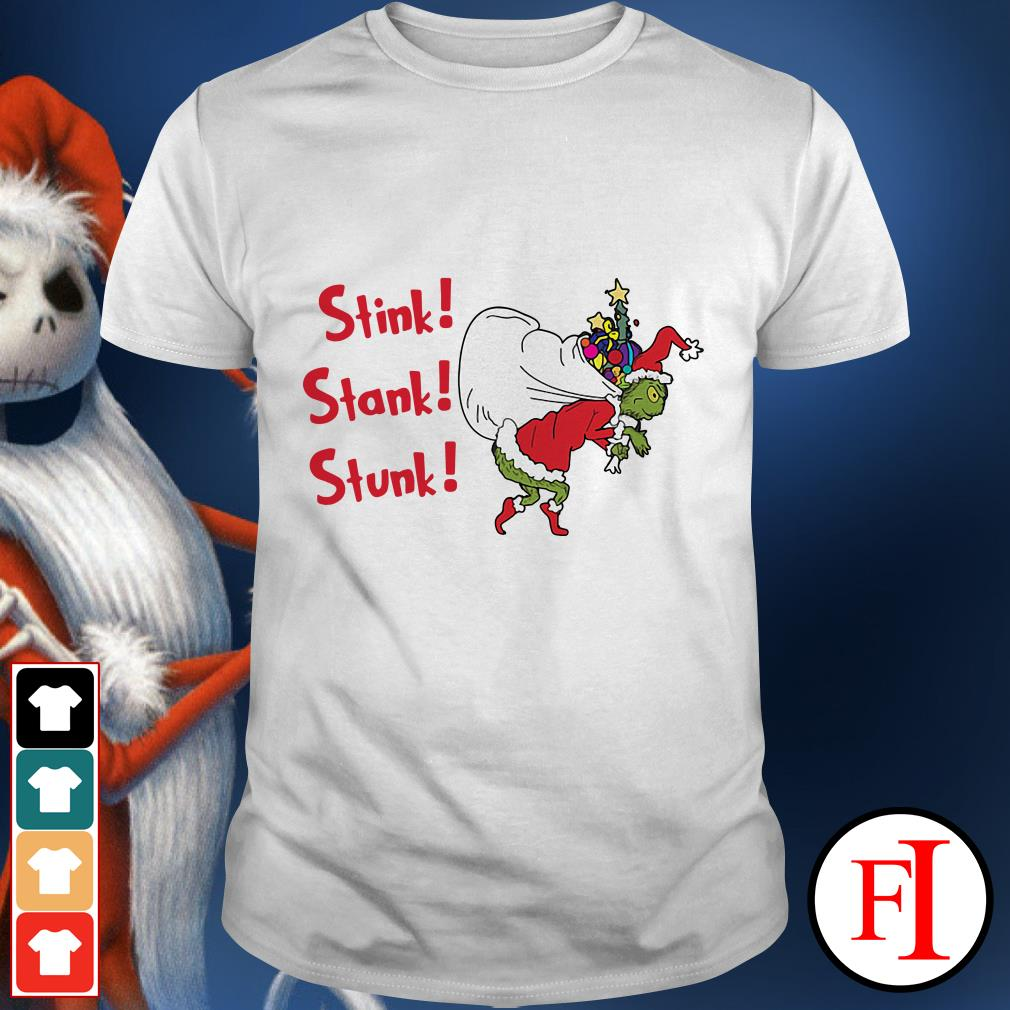 Stink stank stunk the Grinch Santa Christmas shirt