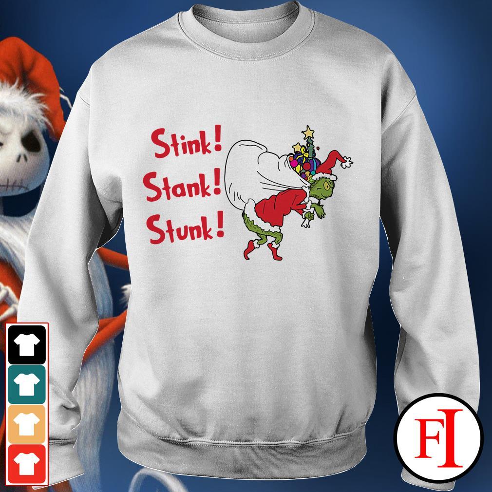 Stink stank stunk the Grinch Santa Christmas Sweater