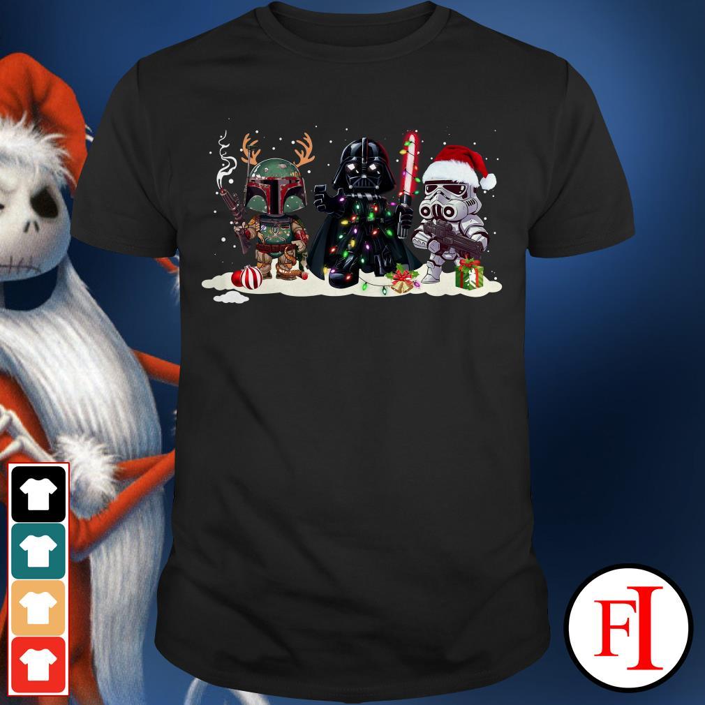 Stormtrooper Christmas and Boba Fett Darth Vader Shirt