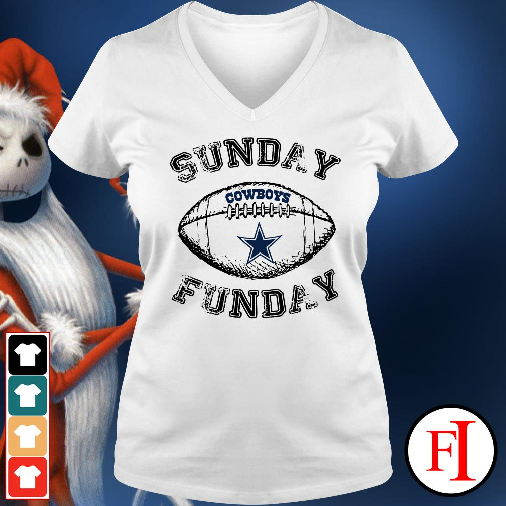 Sunday funday Dallas Cowboys V-neck t-shirt