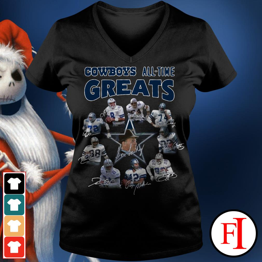 The Dallas Cowboys all-time greats V-neck t-shirt