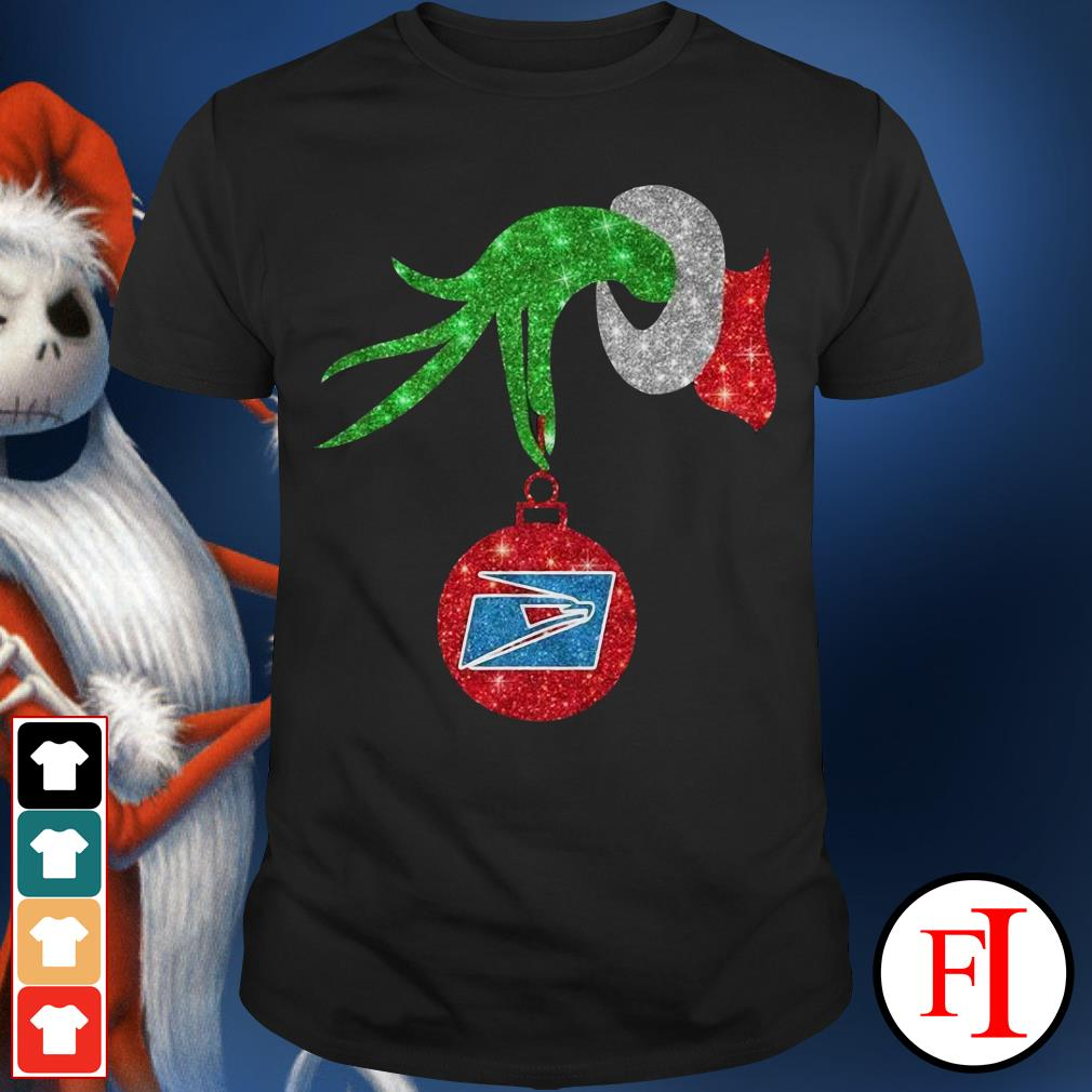 US postal service ornament Grinch hand holding Shirt