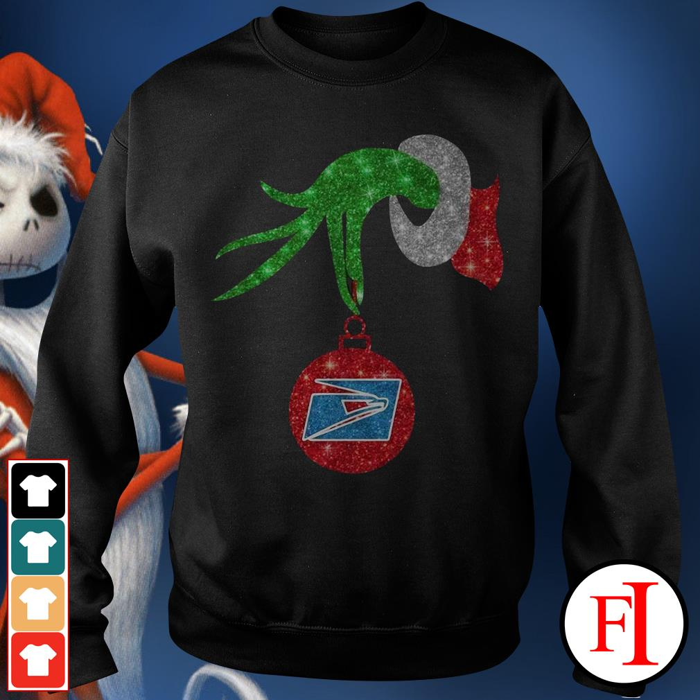 US postal service ornament Grinch hand holding Sweater