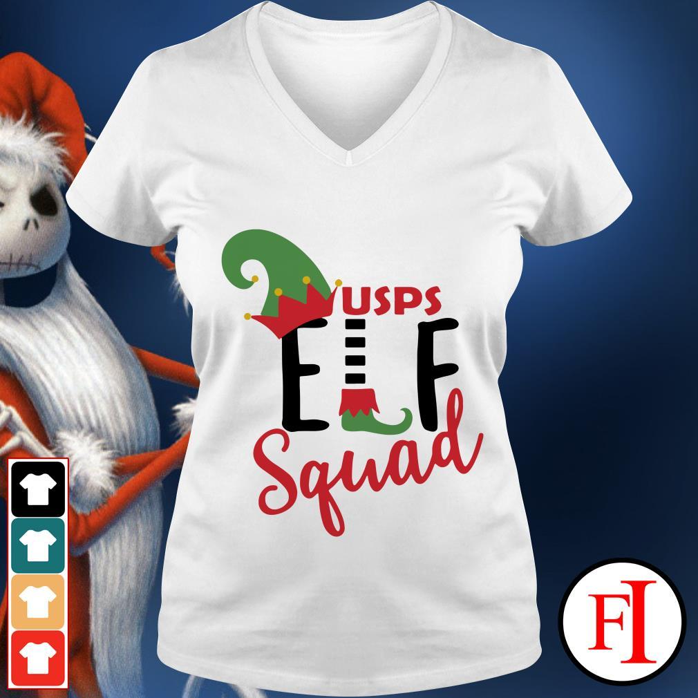 USPS ELF squad Christmas V-neck t-shirt