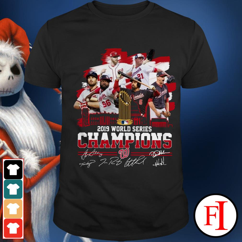 Washington Nationals 2019 World Series Champions signatures Shirt