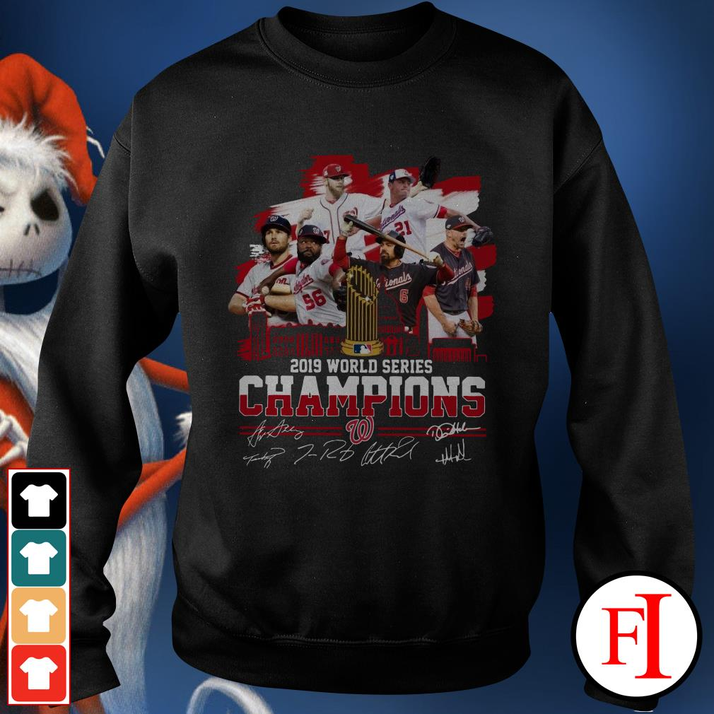 Washington Nationals 2019 World Series Champions signatures Sweater