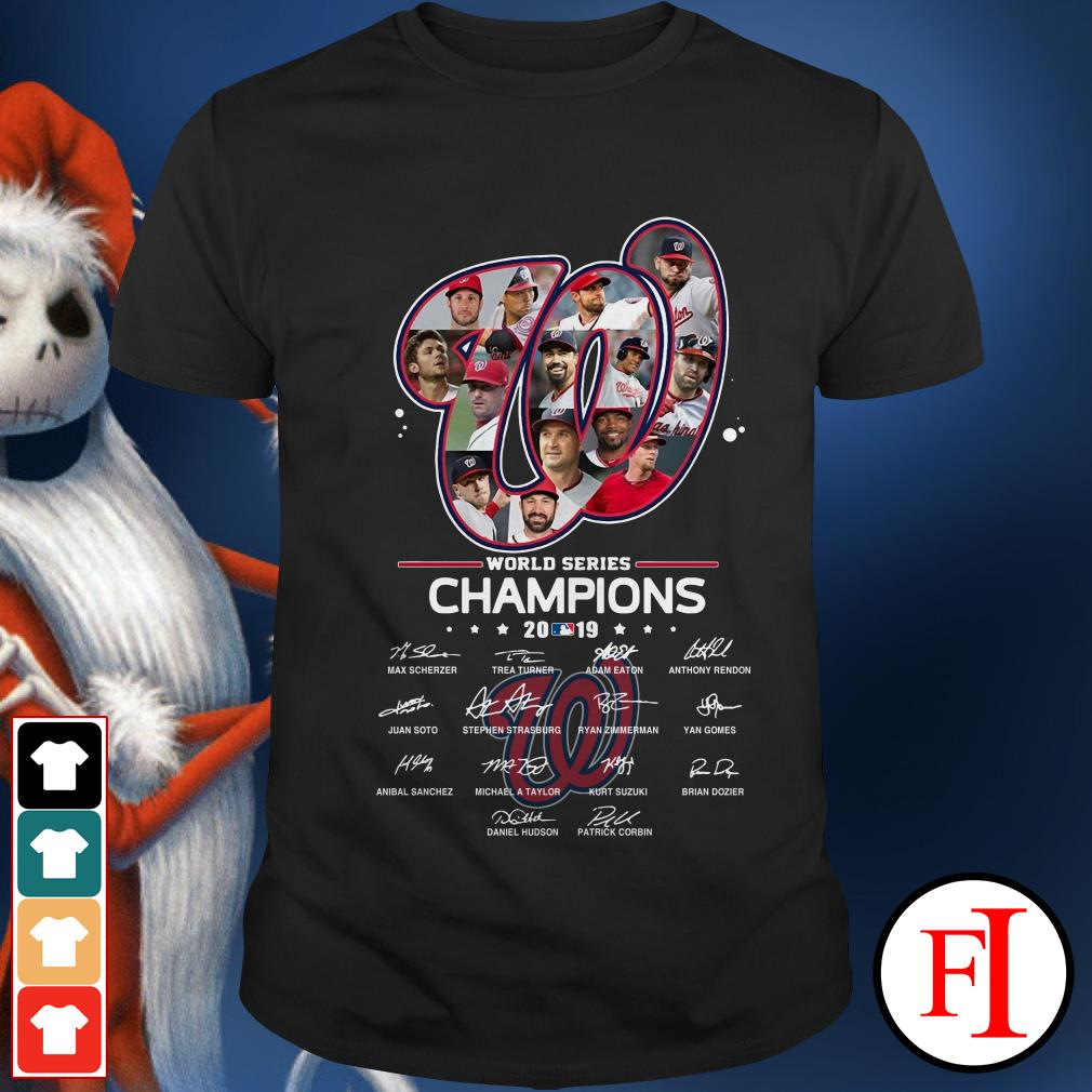 Washington Nationals World Series Champions 2019 signatures Shirt