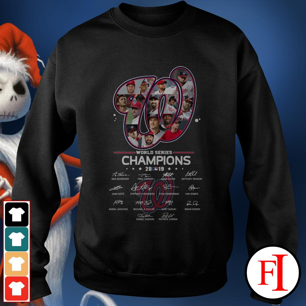 Washington Nationals World Series Champions 2019 signatures Sweater