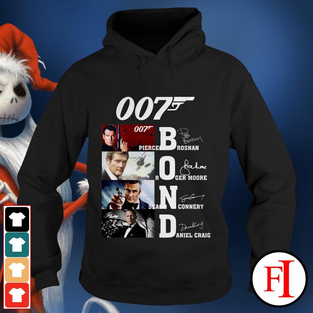 007 Bond Pierce Brosnan Roger Moore Sean Connery Daniel Craig Hoodie