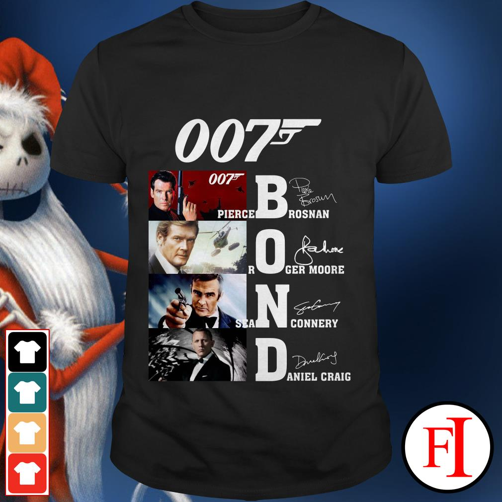 007 Bond Pierce Brosnan Roger Moore Sean Connery Daniel Craig shirt