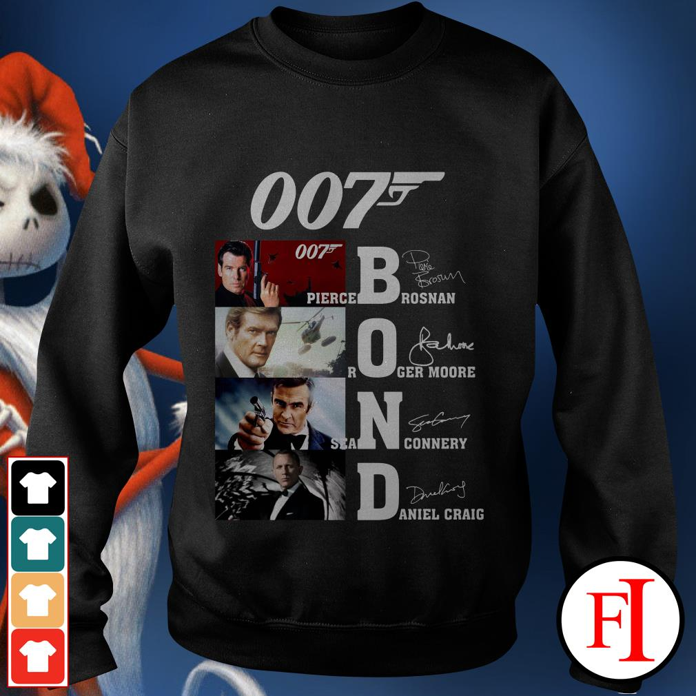 007 Bond Pierce Brosnan Roger Moore Sean Connery Daniel Craig Sweater