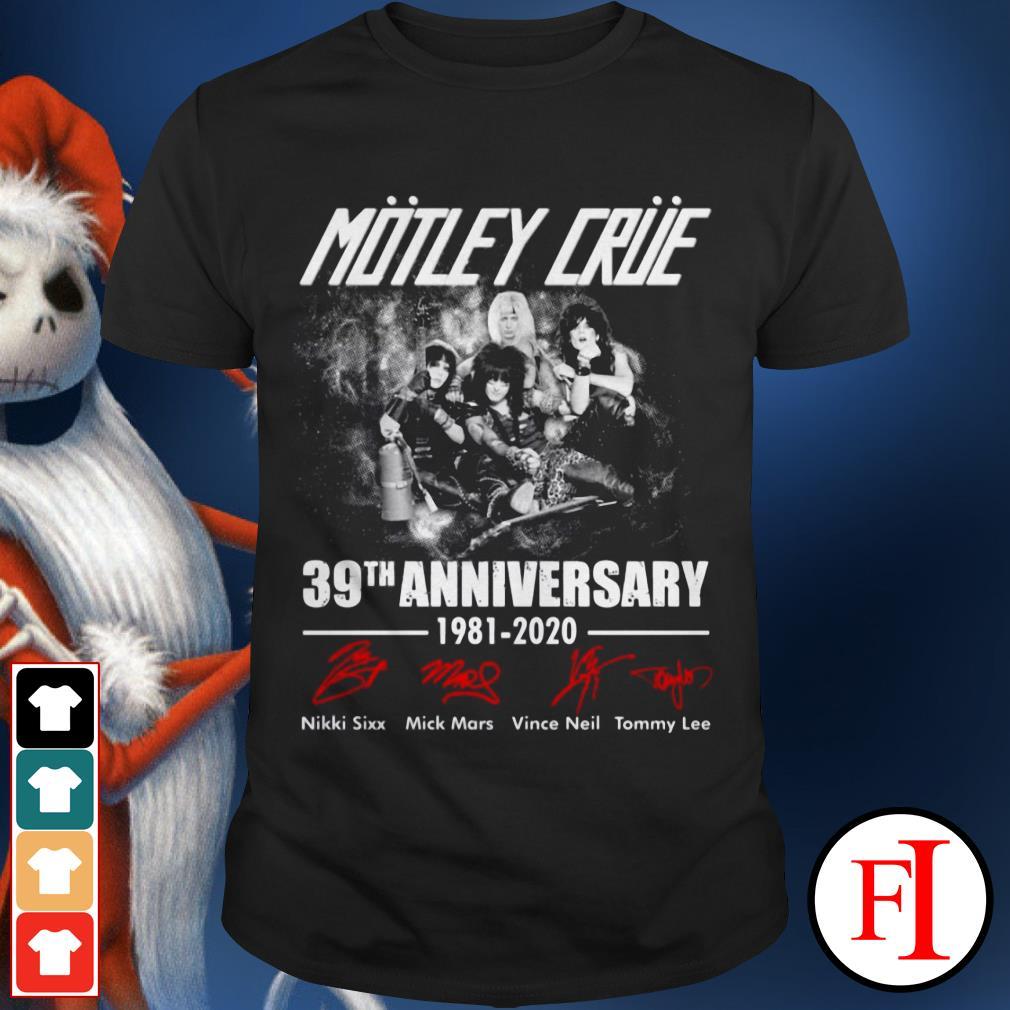39th anniversary Motley Crue 1981-2020 signature shirt