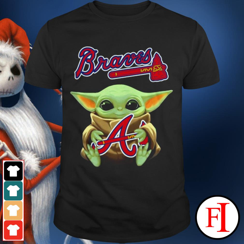 Atlanta Braves Baby Yoda hug shirt