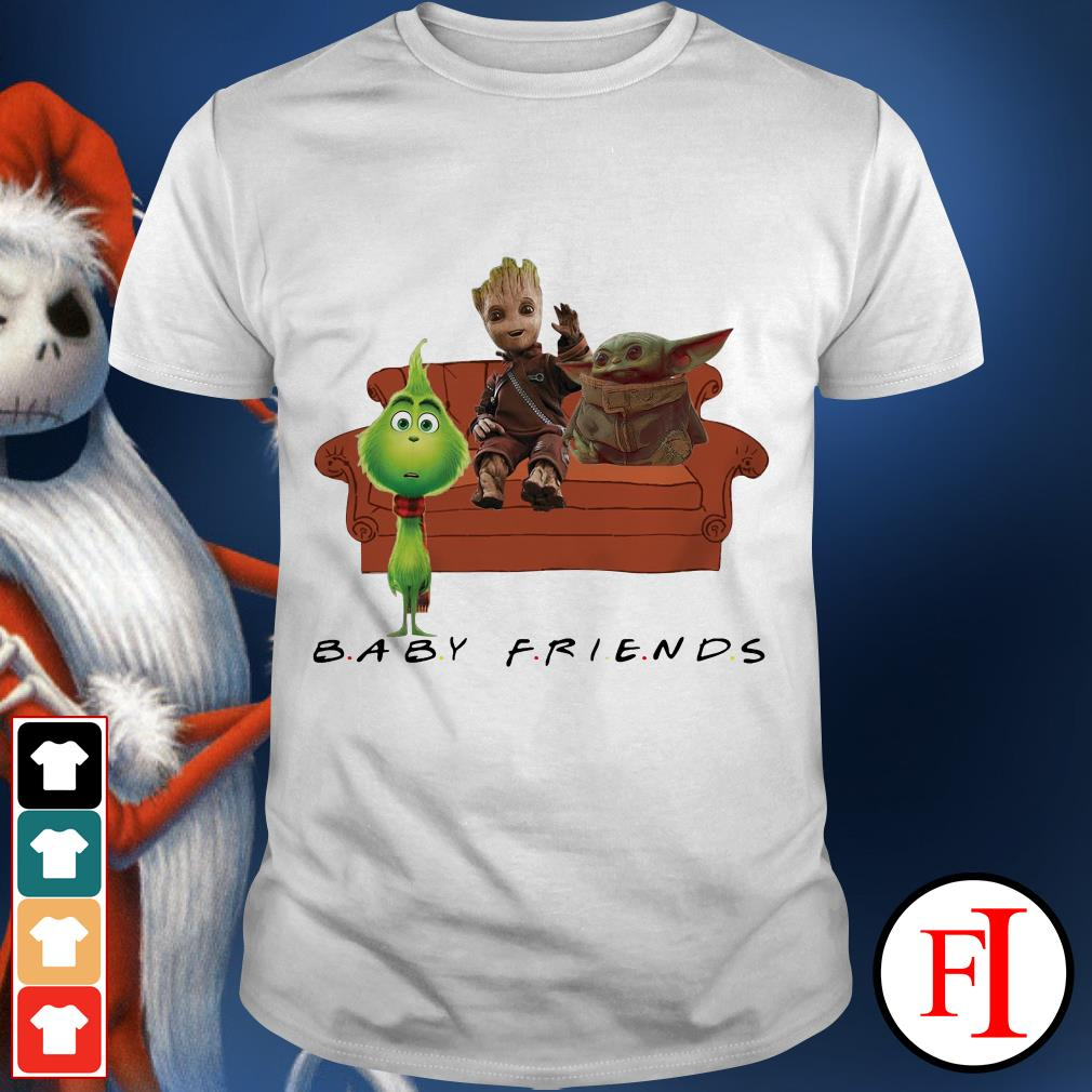 Baby Friends Baby Yoda Baby Groot and Baby Grinch shirt