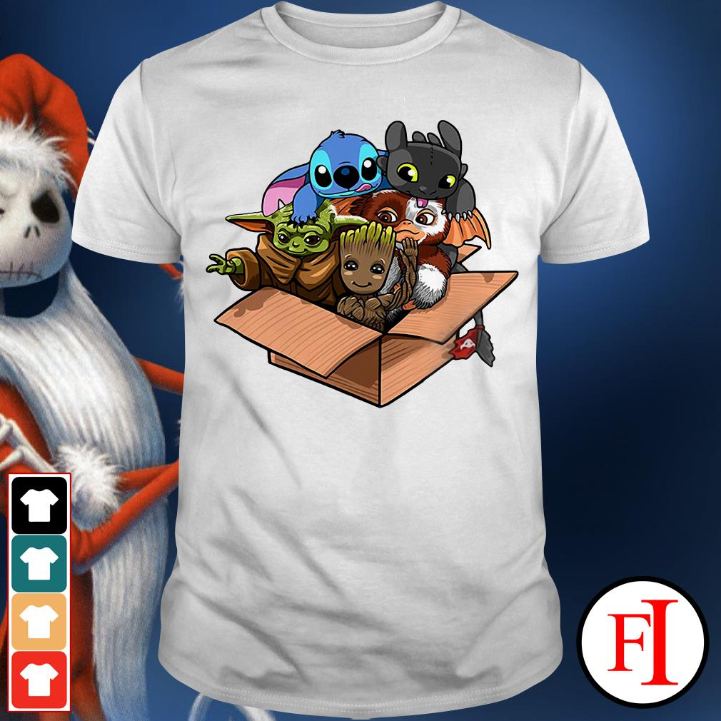 Baby Groot Baby Stitch and Baby Toothless Baby Yoda Baby Gizmo shirt