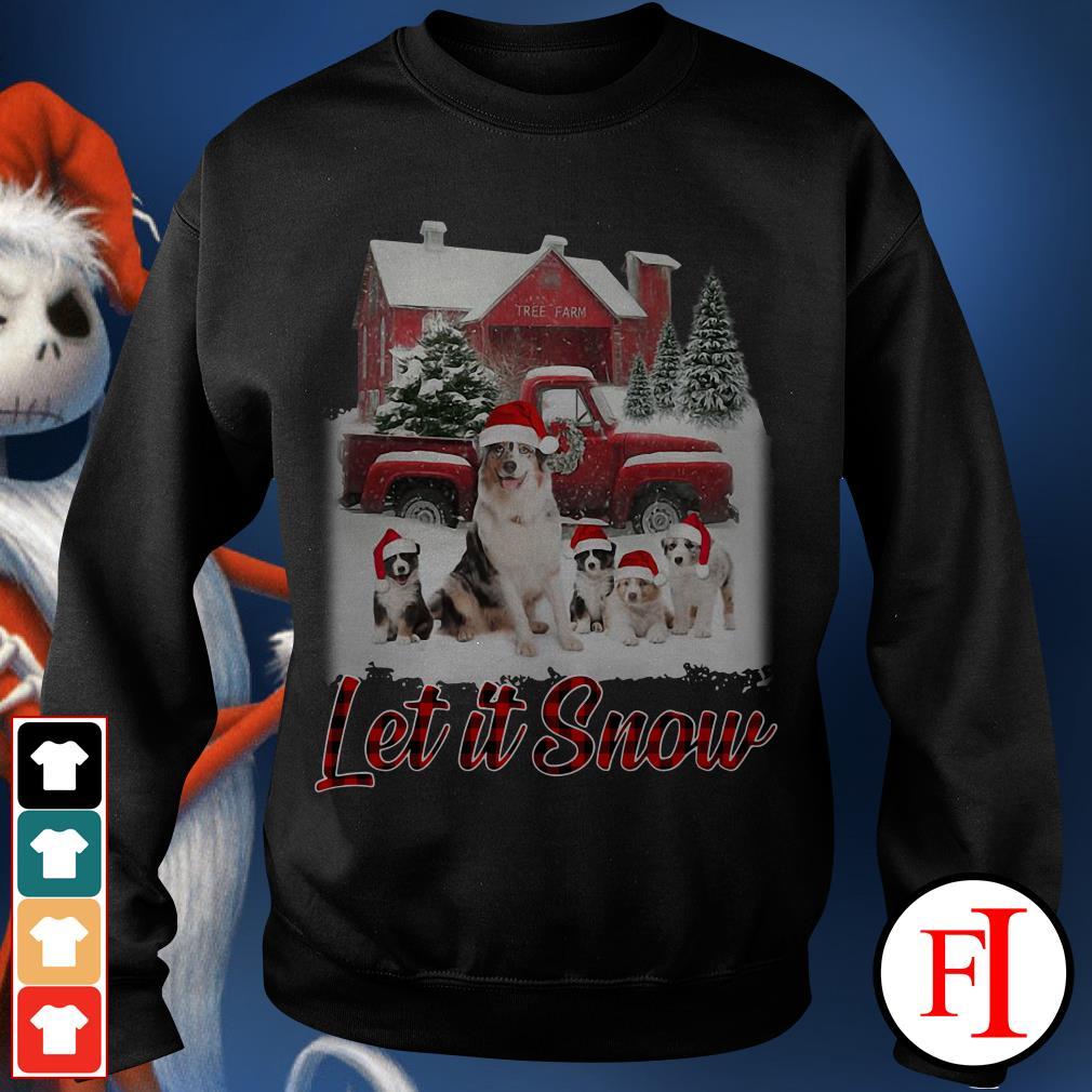 Christmas Australian Shepherd Let It Snow Sweater
