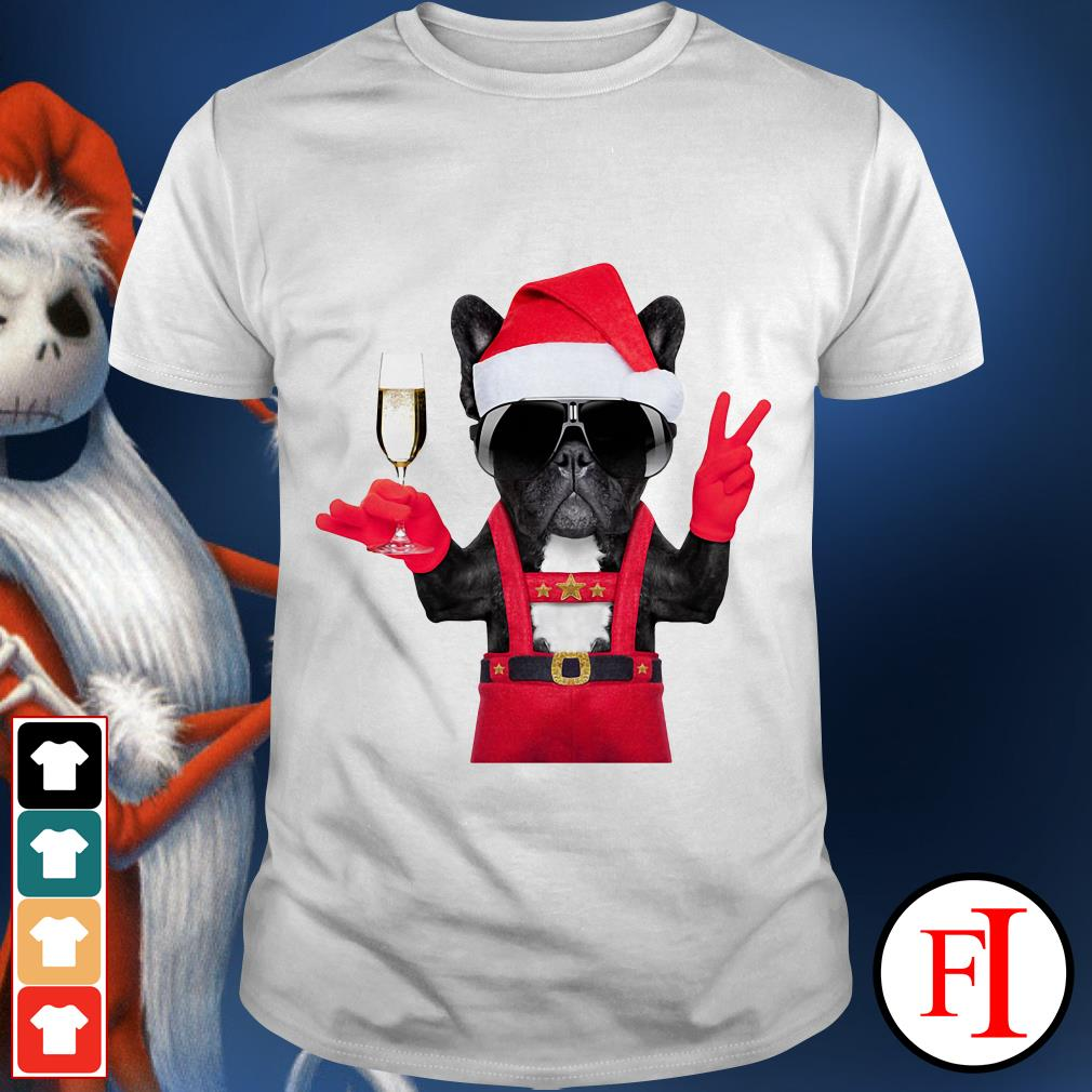 Christmas Deadpool Dog Santa hi wine shirt