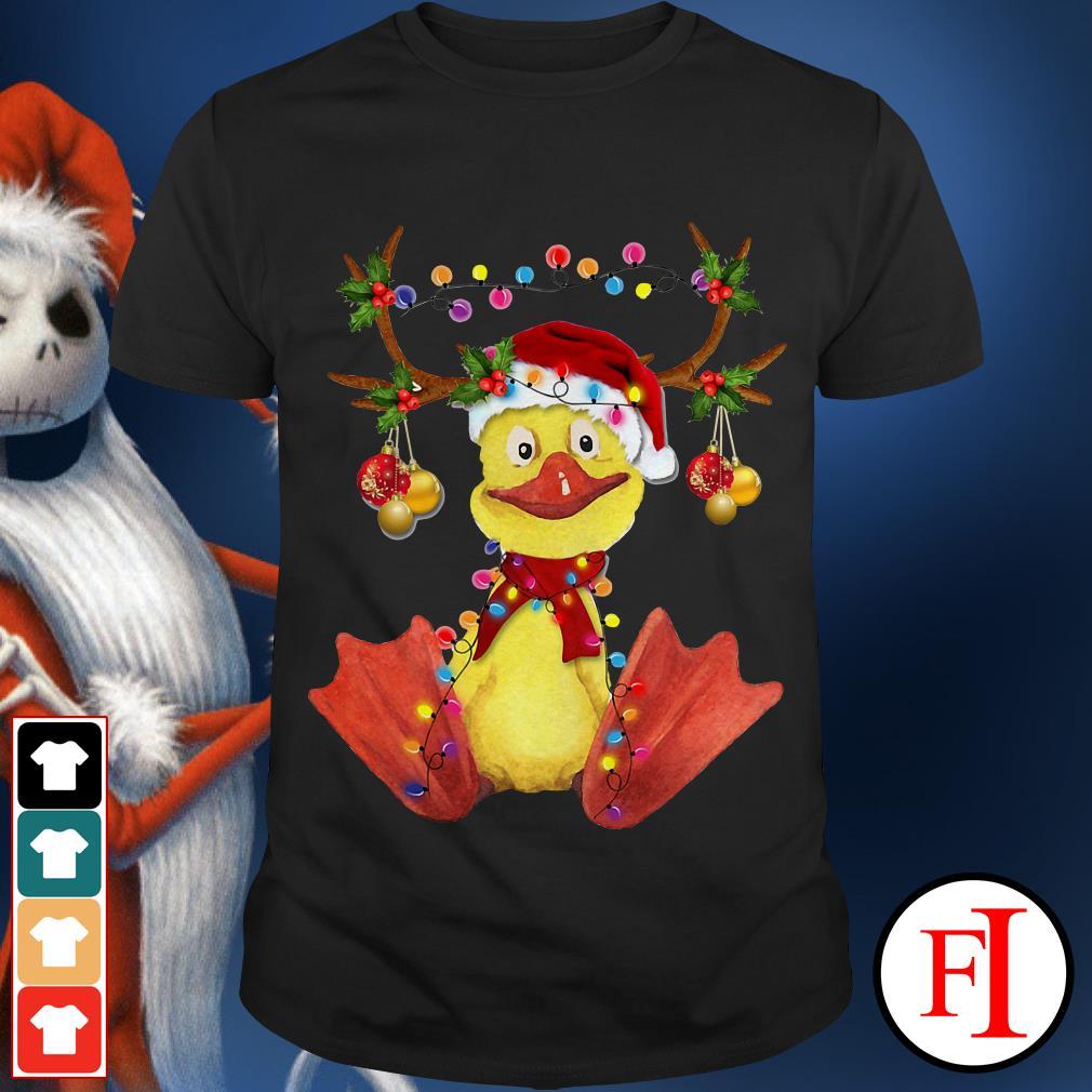 Christmas Duck gorgeous reindeer shirt