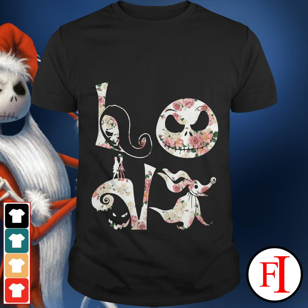 Before Christmas Nightmare Jack Skellington flower love shirt