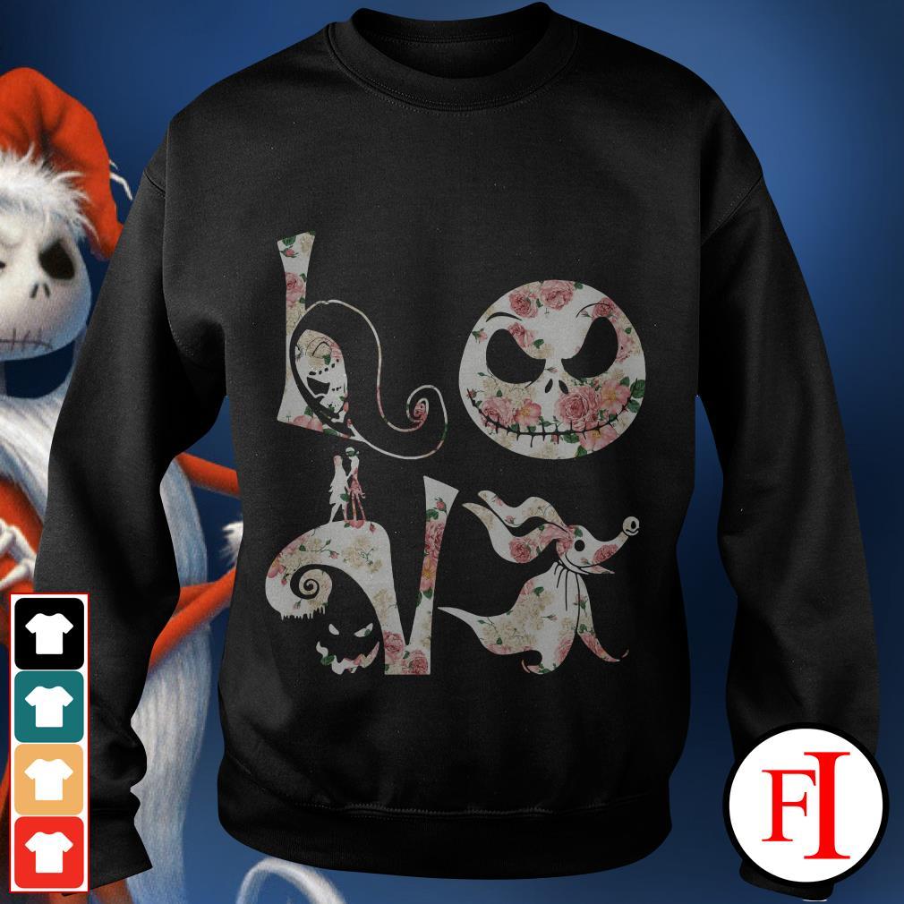 Before Christmas Nightmare Jack Skellington flower love Sweater