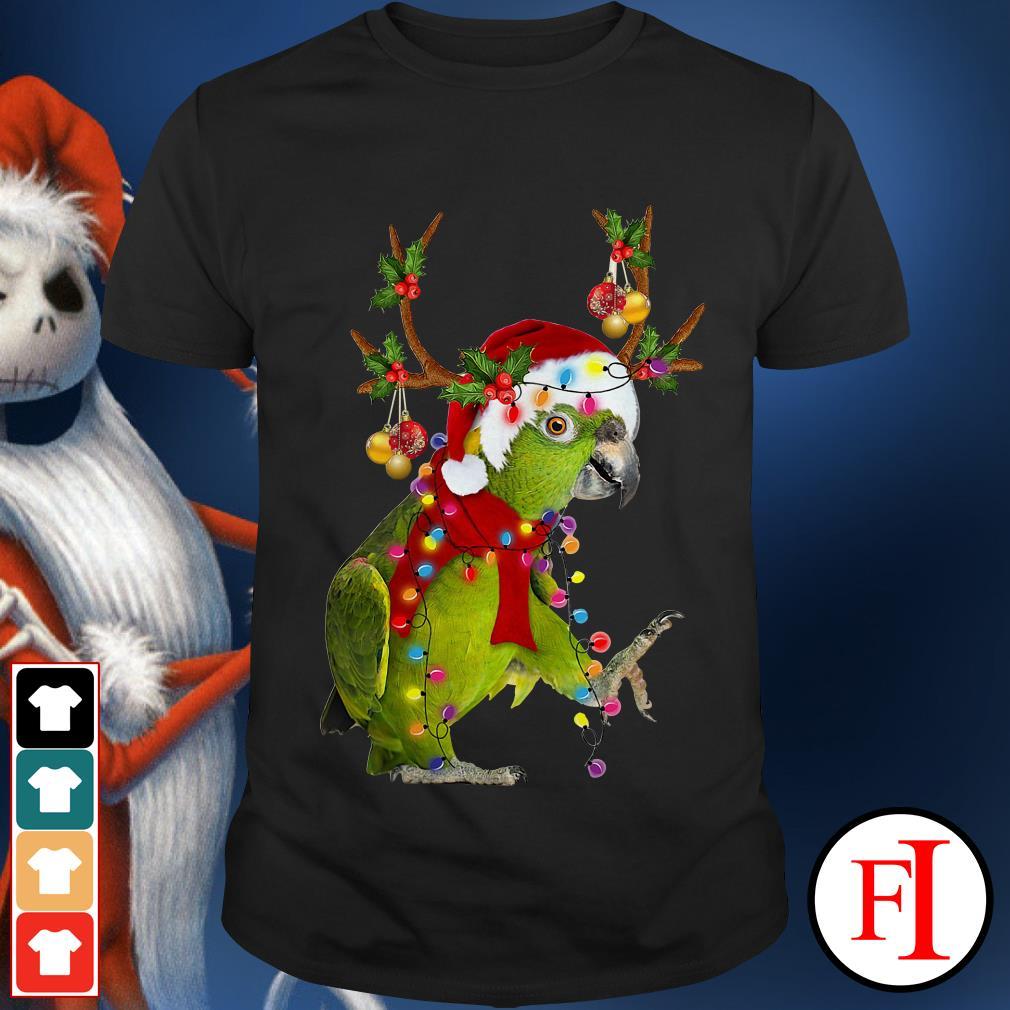 Christmas Parrot gorgeous reindeer shirt