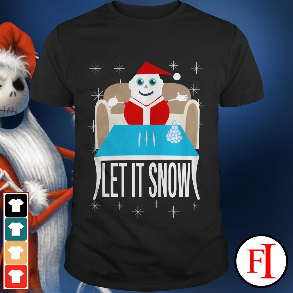 Christmas Walmart Cocaine Santa let It Snow shirt
