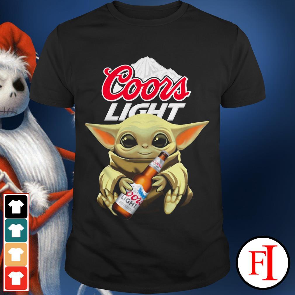 Coors Light Baby Yoda hug shirt