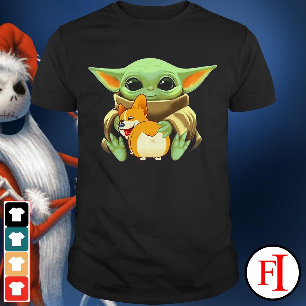 Corgi dog Baby Yoda hug shirt