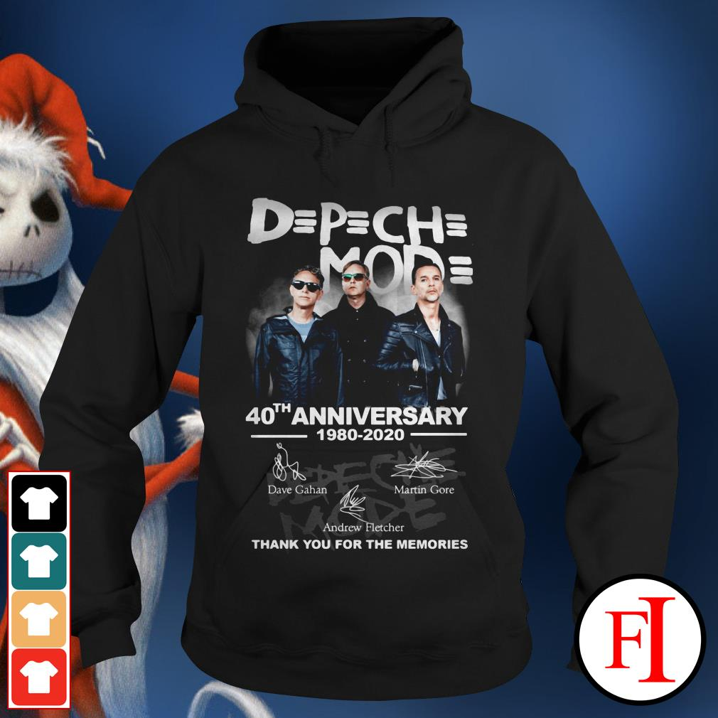 Depeche Mode 40th anniversary 1980-2020 thank you for the memories Hoodie