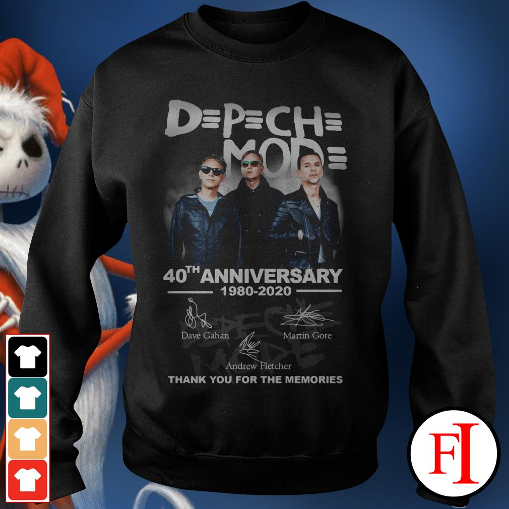 Depeche Mode 40th anniversary 1980-2020 thank you for the memories Sweater