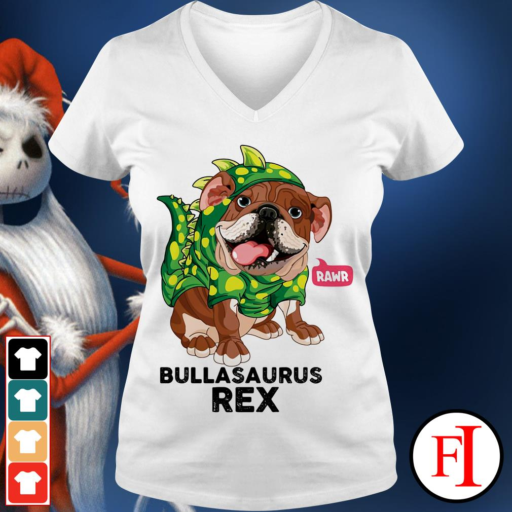 Dog Rawr Bulbasaurus Rex V-neck t-shirt