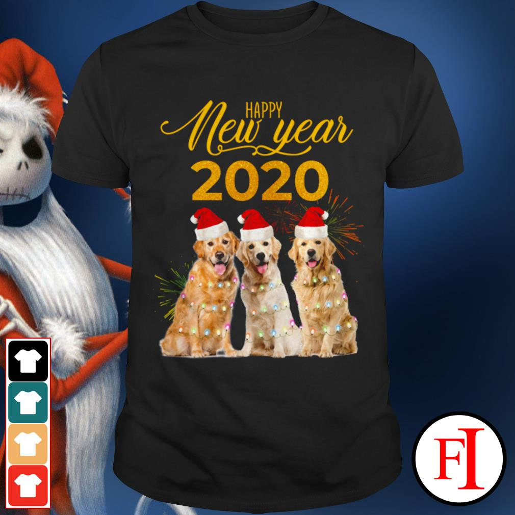 Happy New Year 2020 Golden Retriever shirt
