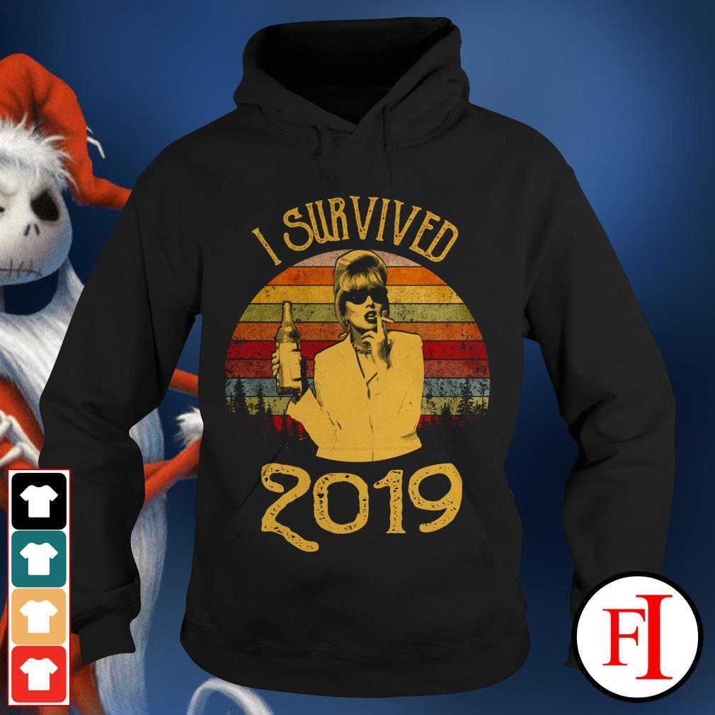 Jennifer Saunders I survived 2019 sunset Hoodie