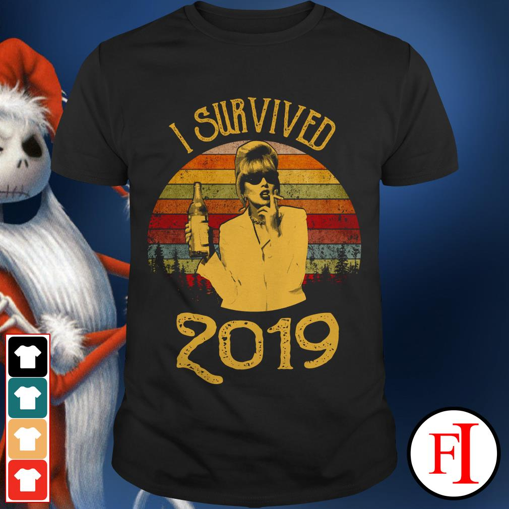 Jennifer Saunders I survived 2019 sunset shirt