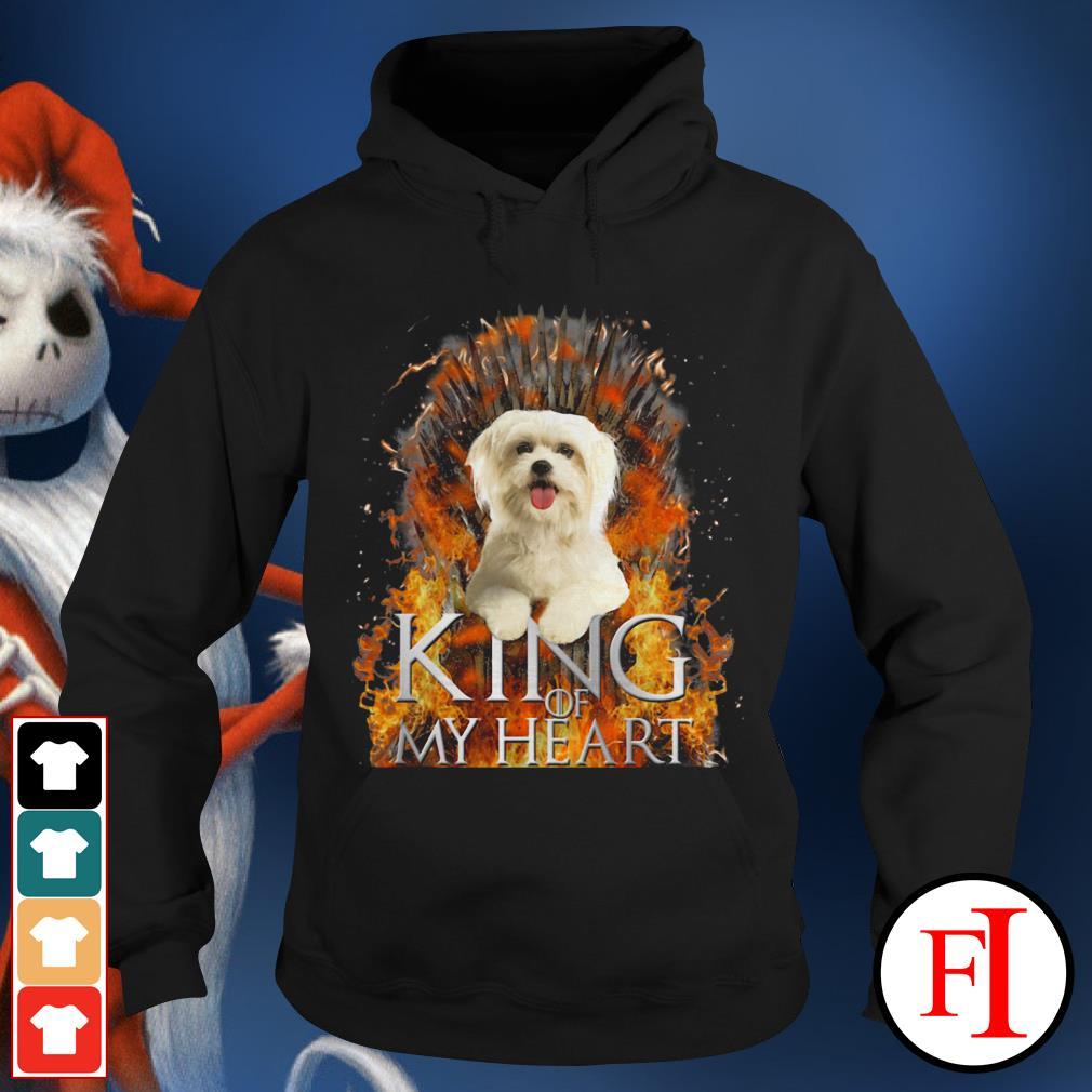 King of my heart Maltese Hoodie