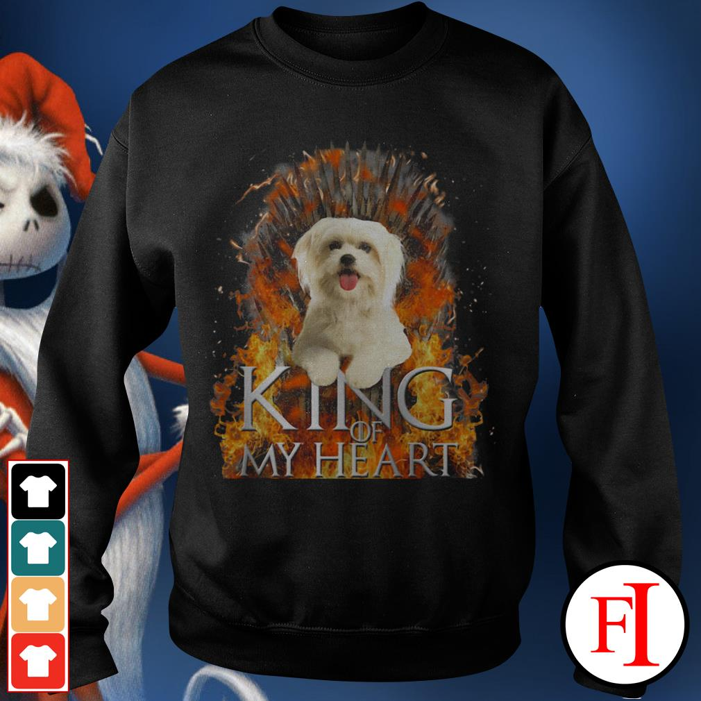 King of my heart Maltese Sweater