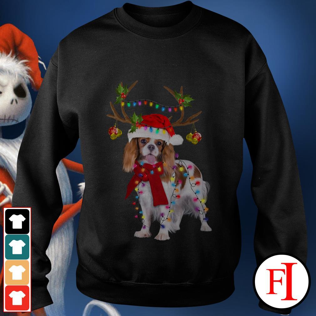 Merry Christmas Cavalier King gorgeous reindeer Sweater