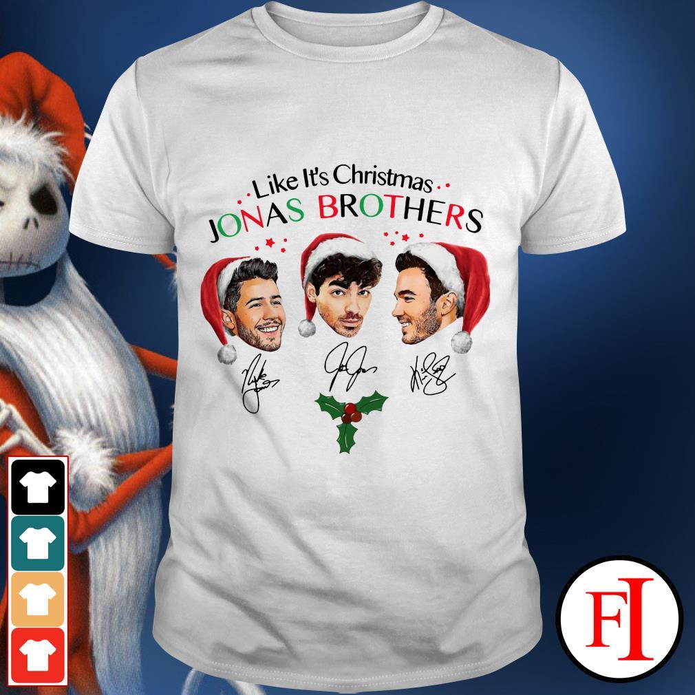 Merry Christmas Like it's Christmas Jonas Brothers signatures shirt