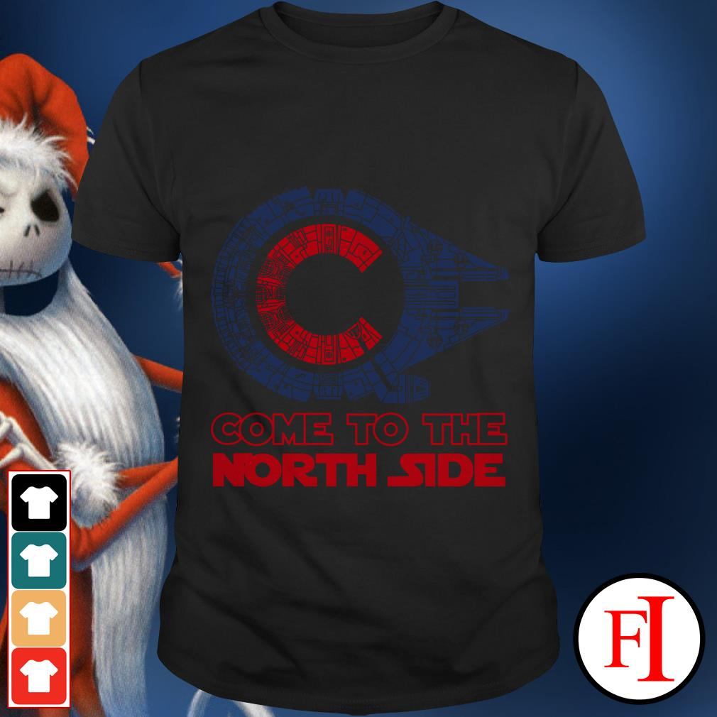 Millennium Falcon Chicago Cubs Come to the North side Star Wars shirt