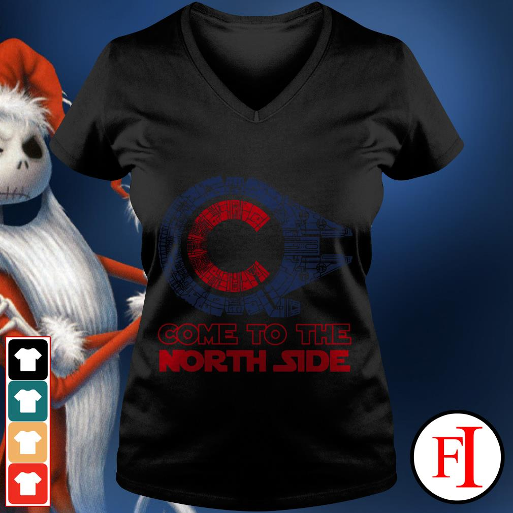 Millennium Falcon Chicago Cubs Come to the North side Star Wars V-neck t-shirt