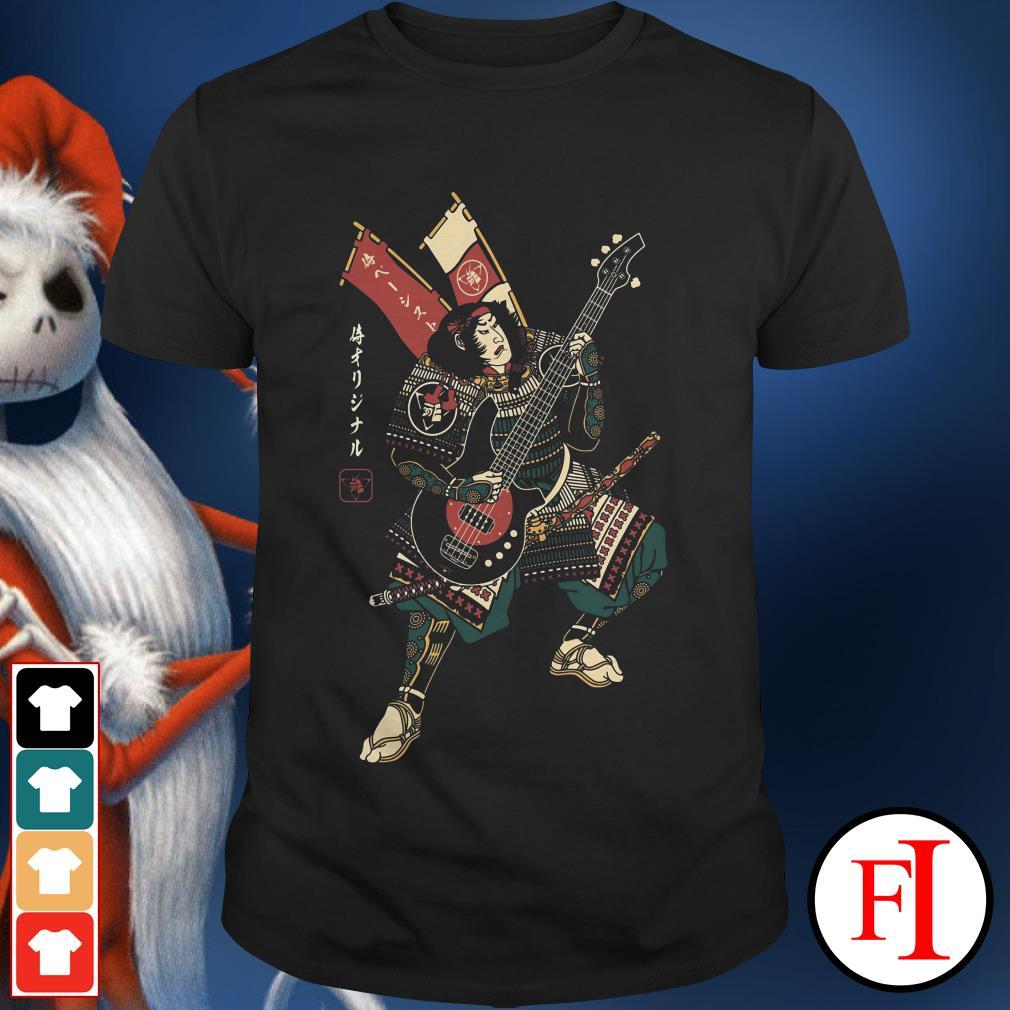 Official Bassist samurai guitar shirt