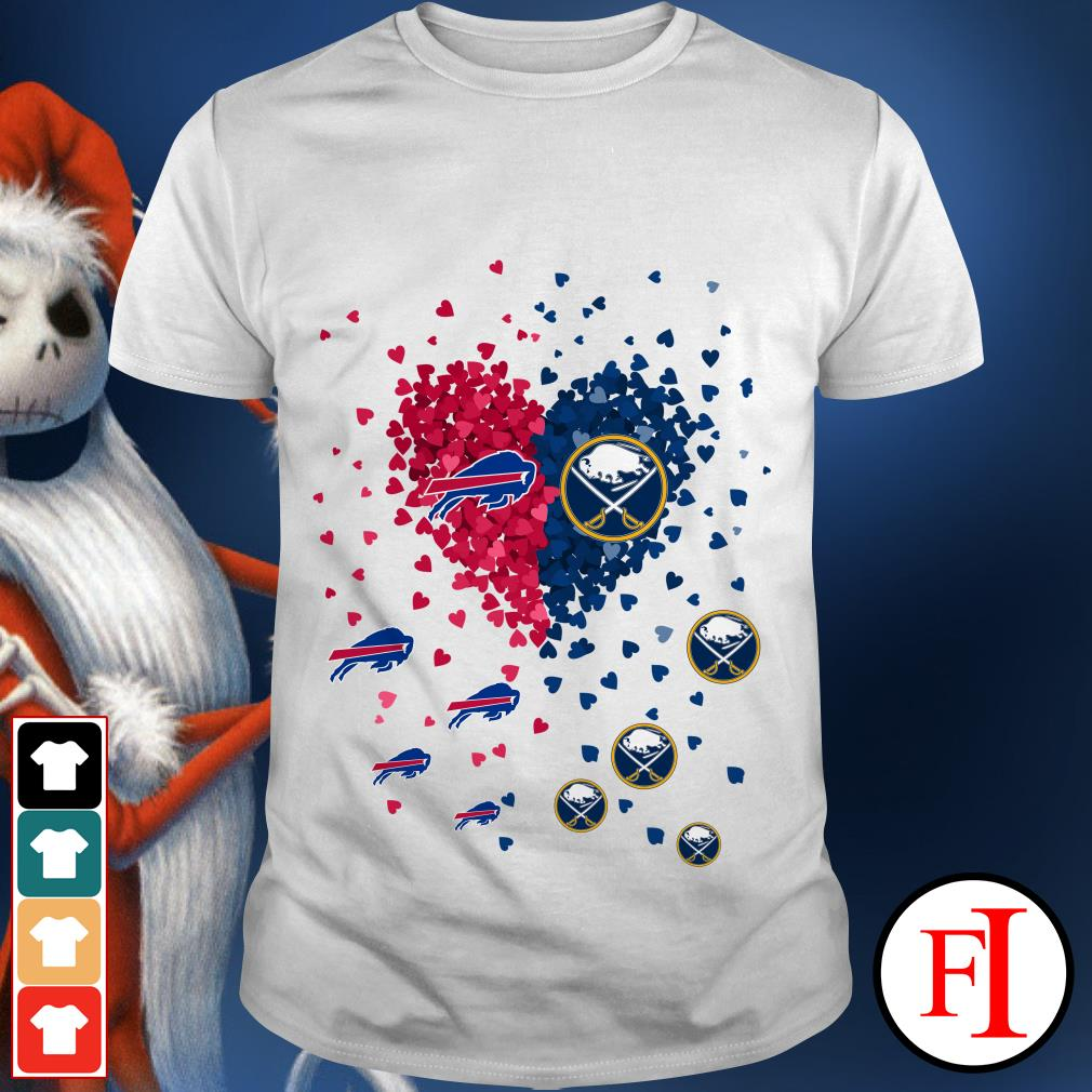Official Buffalo Bills Buffalo Sabres Tiny Hearts Shape shirt