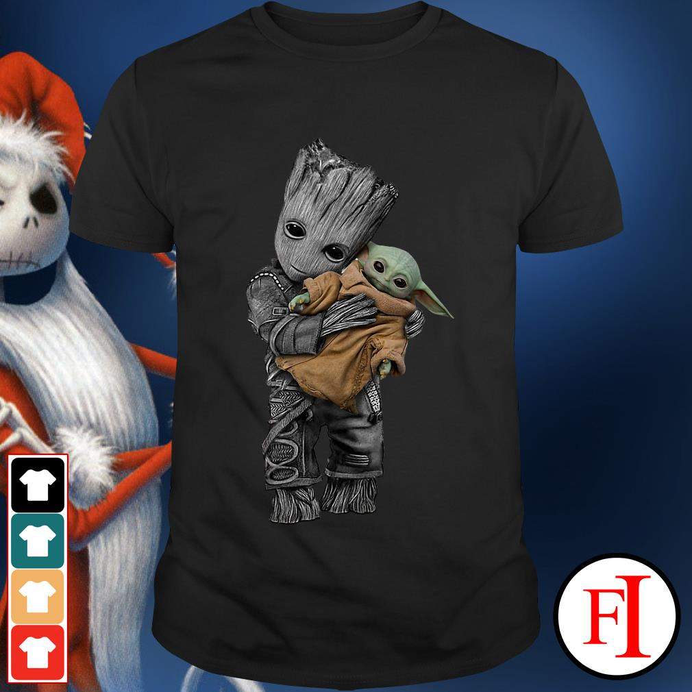 Official Groot hug baby yoda shirt