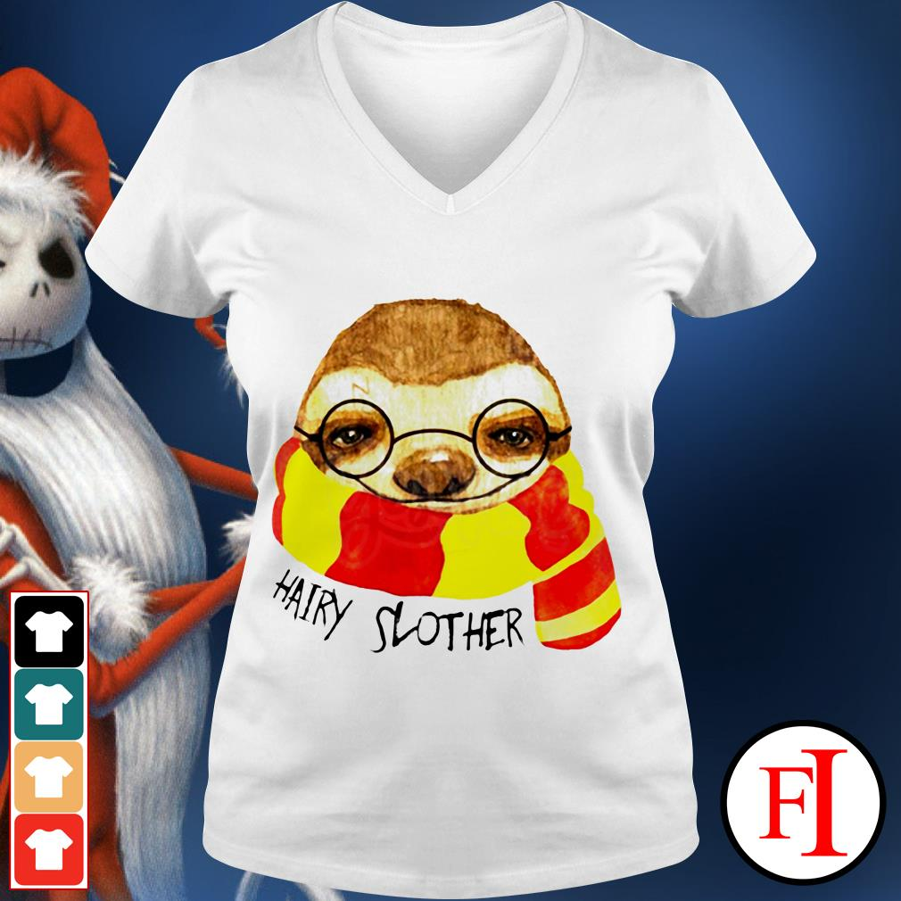 Official Hairy Slother Sloth lovers V-neck t-shirt