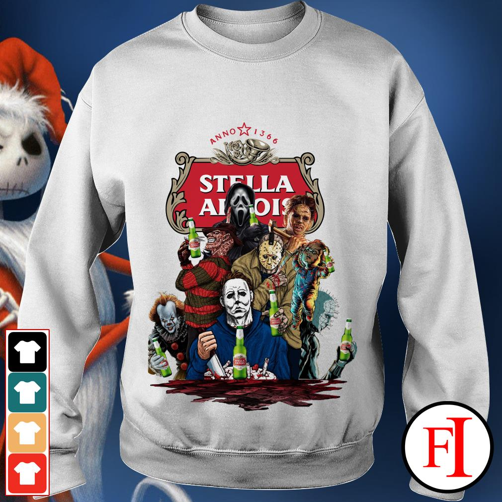 Official Halloween Horror Characters drinking Stella Artois Sweater