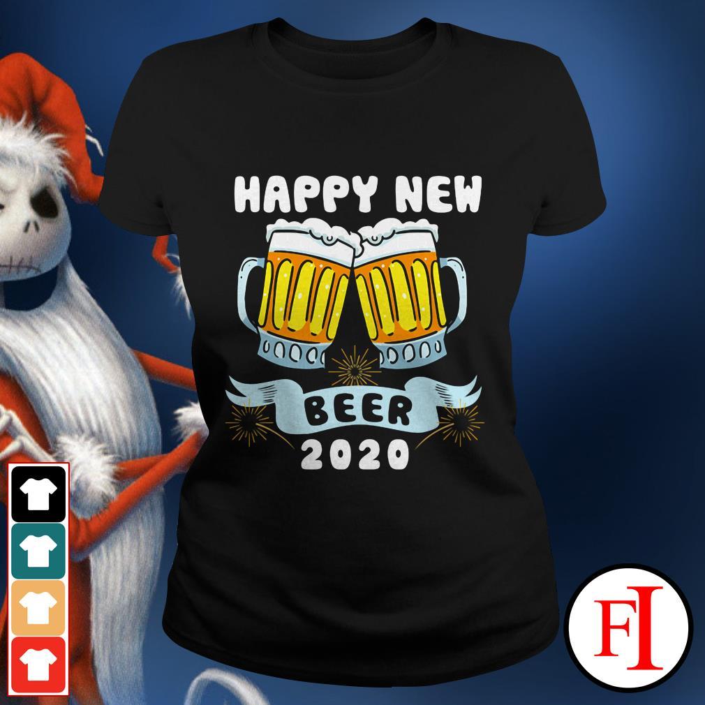 Official Happy New Year Beer 2020 Ladies tee