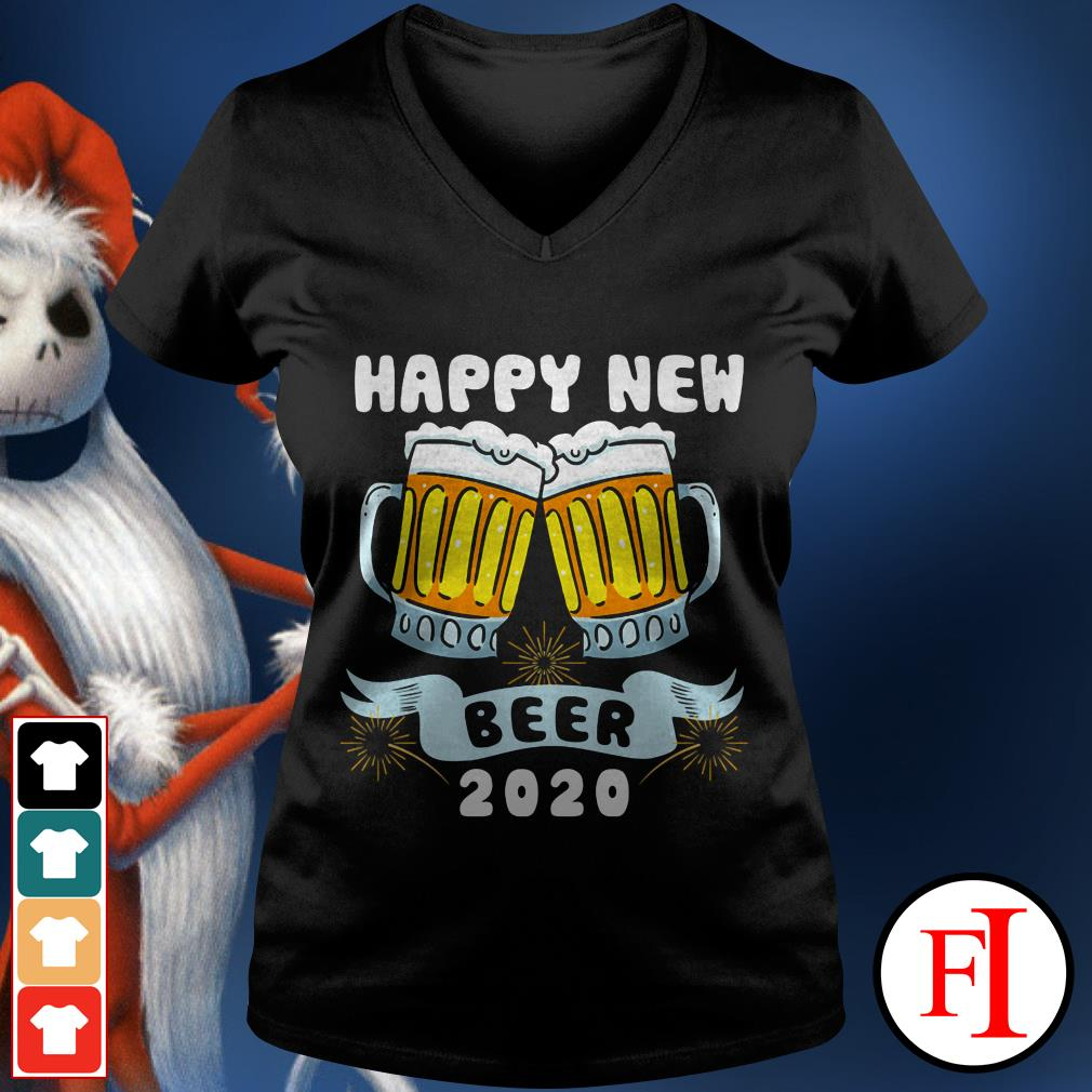 Official Happy New Year Beer 2020 V-neck t-shirt